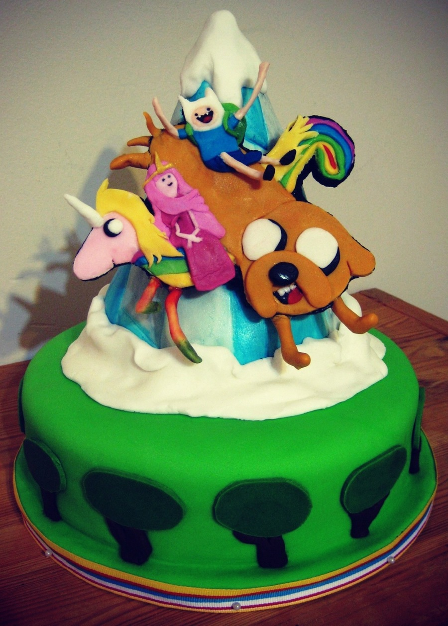 Cake Design Adventure Time : Adventure Time Birthday Cake - CakeCentral.com