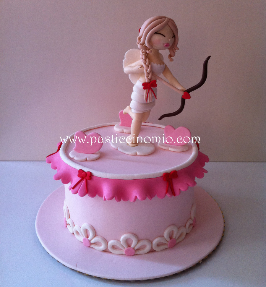 Female Eros Valentine's Day Cake  on Cake Central