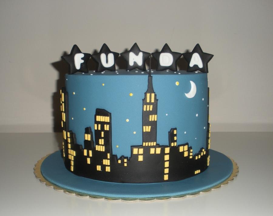 new york skyline cake. Black Bedroom Furniture Sets. Home Design Ideas
