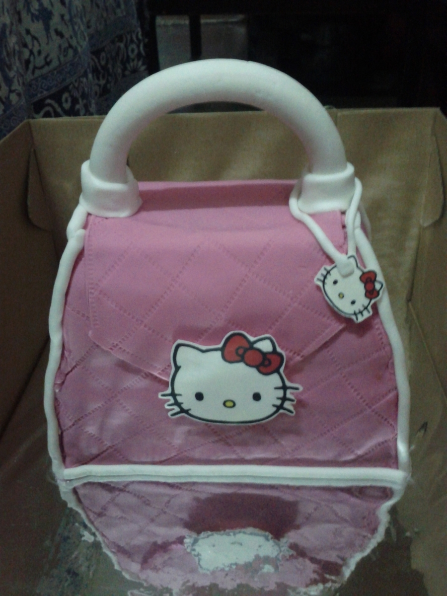 Hello Kitty Purse Cake  on Cake Central