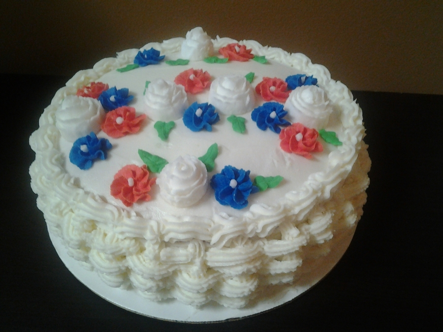 Red, White And Blue on Cake Central