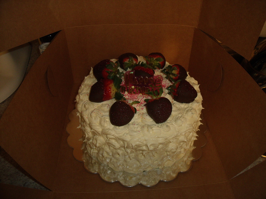 Cool Whip Frosting With Chocolate Covered Strawberrie on Cake Central