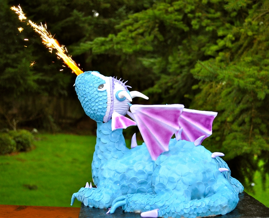 Fire Breathing Dragon Cake  on Cake Central
