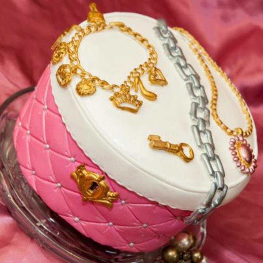 Jewelry Box Cake:)  on Cake Central