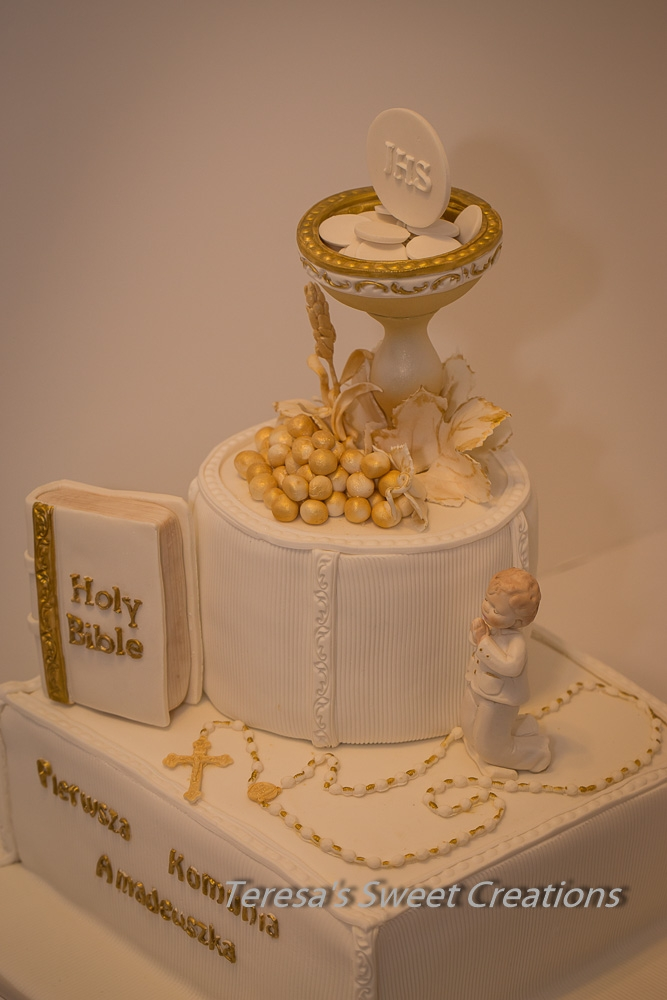 First Holy Communion Cake With Chalice And Bible ....all ...