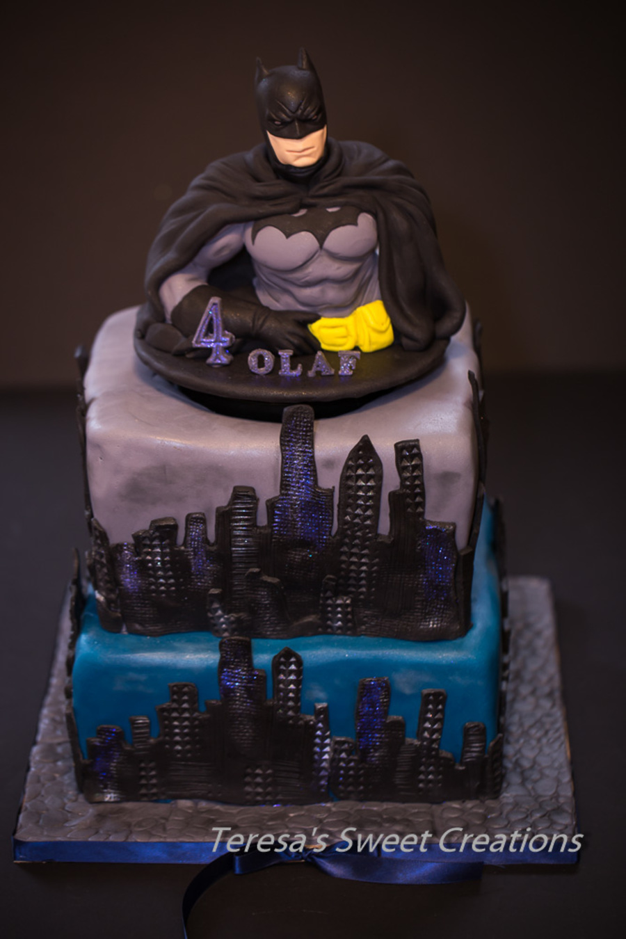 Batman Cake With Spinning Batman Topper Video Soon