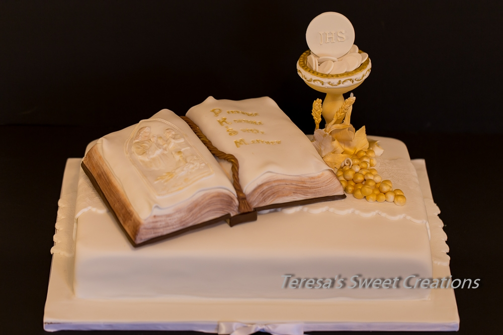 Holy First Communion Cake With Chalice And Bible Life