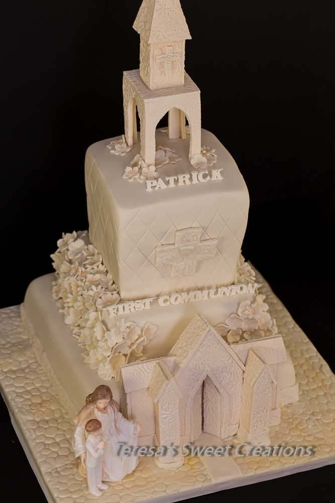 Cake Decoration Ideas For Church : First Communion Cake -Church - CakeCentral.com