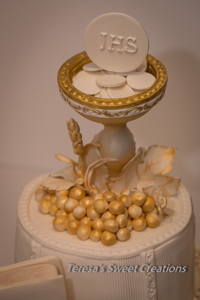 First Holy Communion Cake With Chalice And Bible All