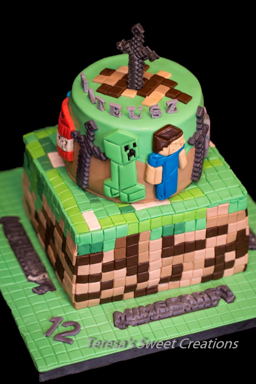 Minecraft Game Cake Cakecentral Com