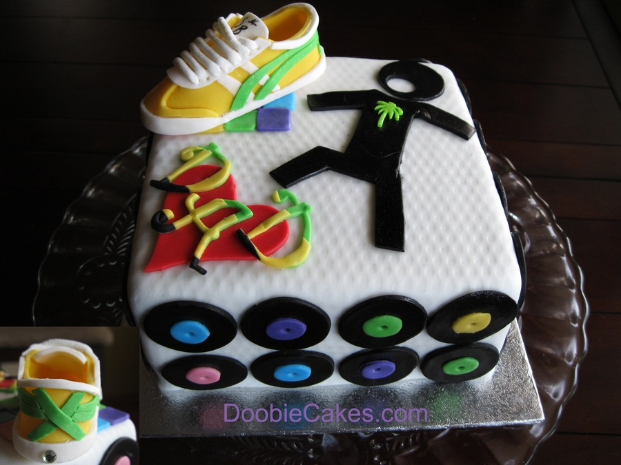 Breakdancing Dad's Day Cake on Cake Central