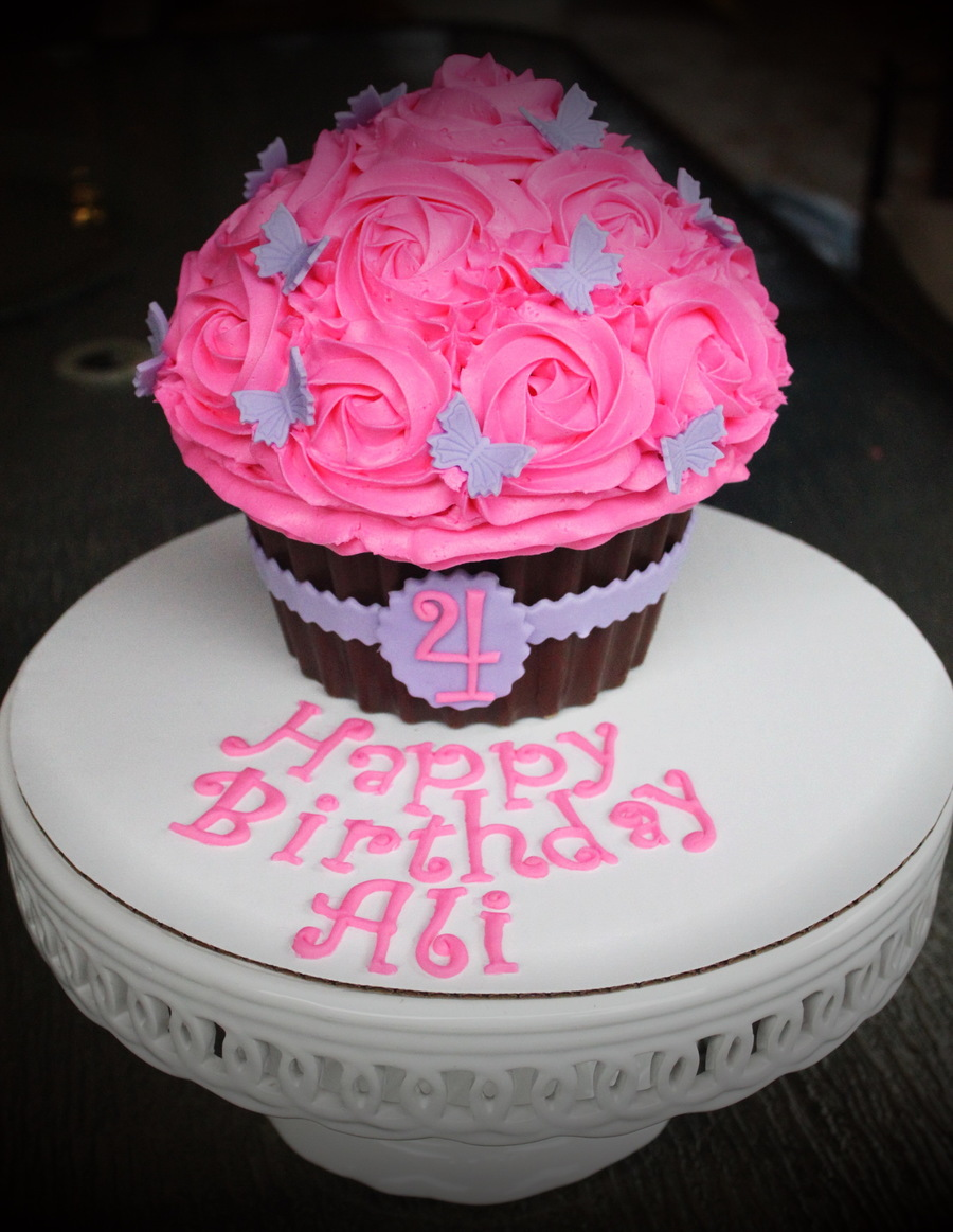 Simple And Sweet Giant Cupcake Cake on Cake Central