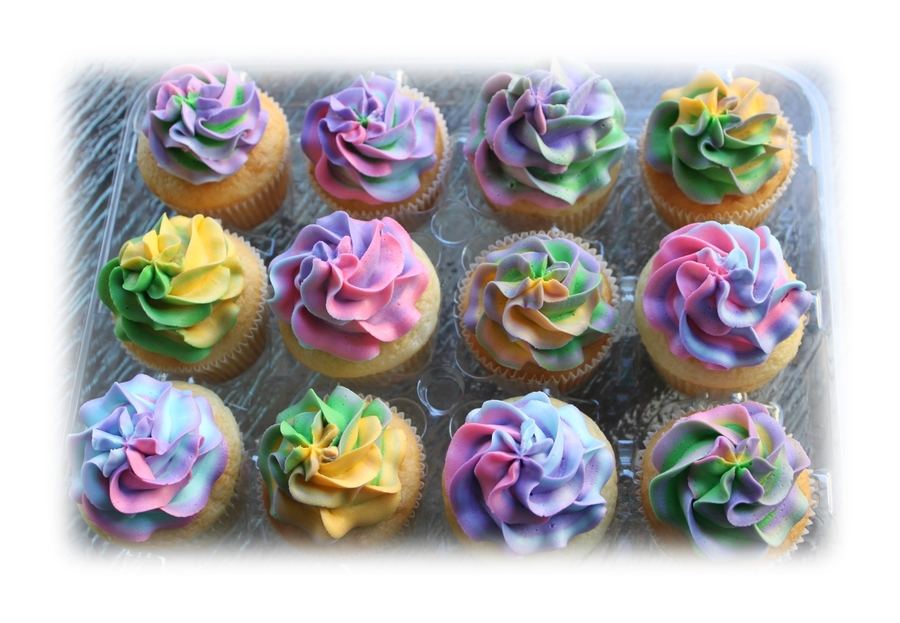 Tie Dyed Cupcakes on Cake Central