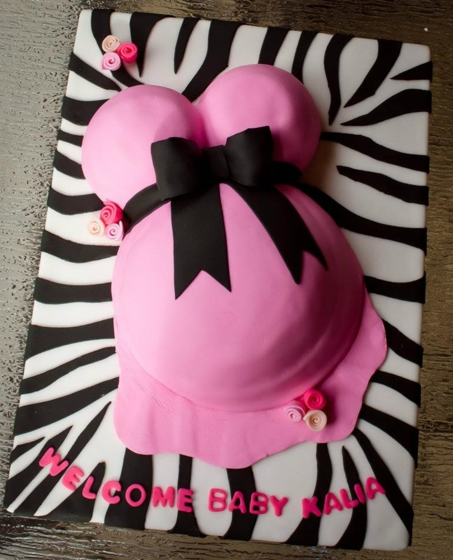 Zebra Belly Cake on Cake Central