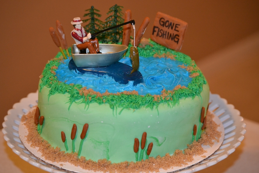 Gone fishing for Gone fishing cake