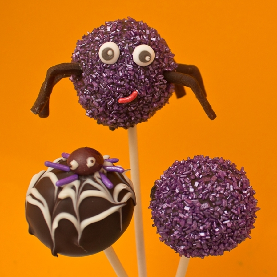 Spider Cake Pops With Sparkle on Cake Central