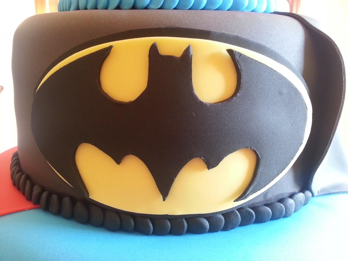 Superhero Cake Superman Batman And Spiderman Themed Cake