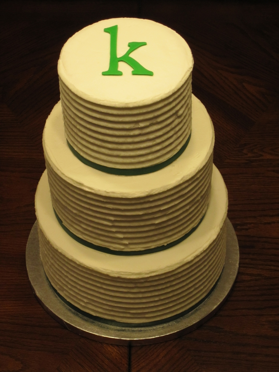 Simple But Elegant Wedding Cake - CakeCentral.com