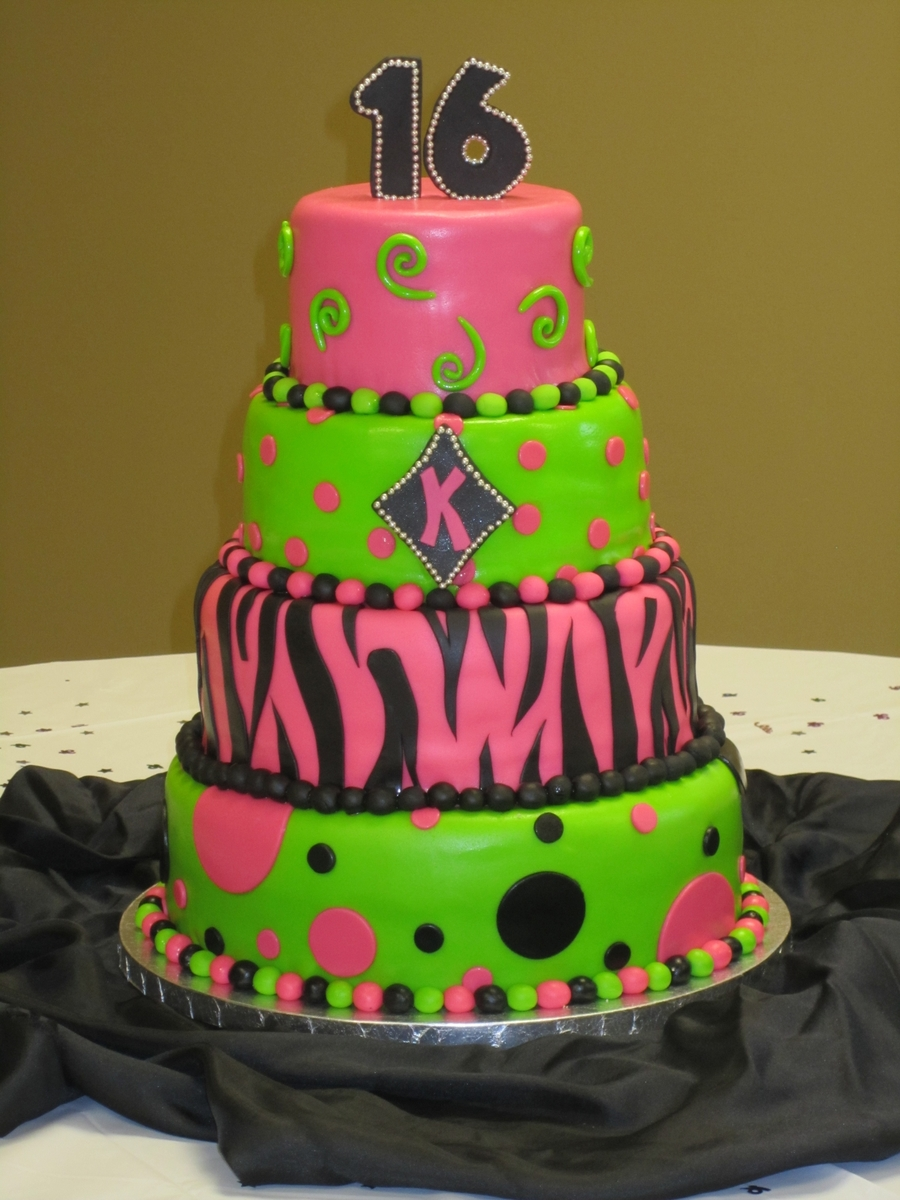 Trendy Sweet 16 Cake Cakecentral Com