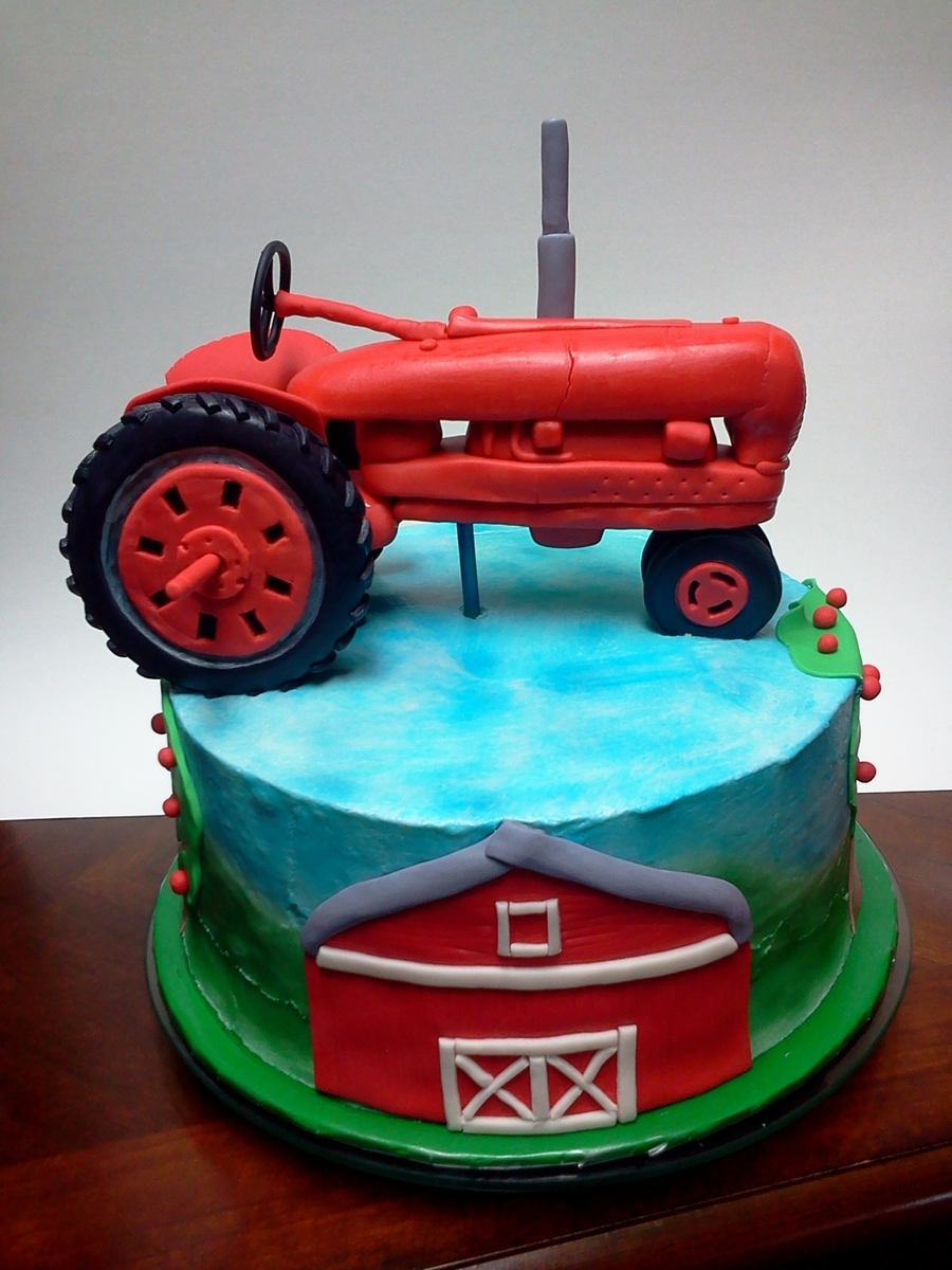 Red Tractor Cake Images
