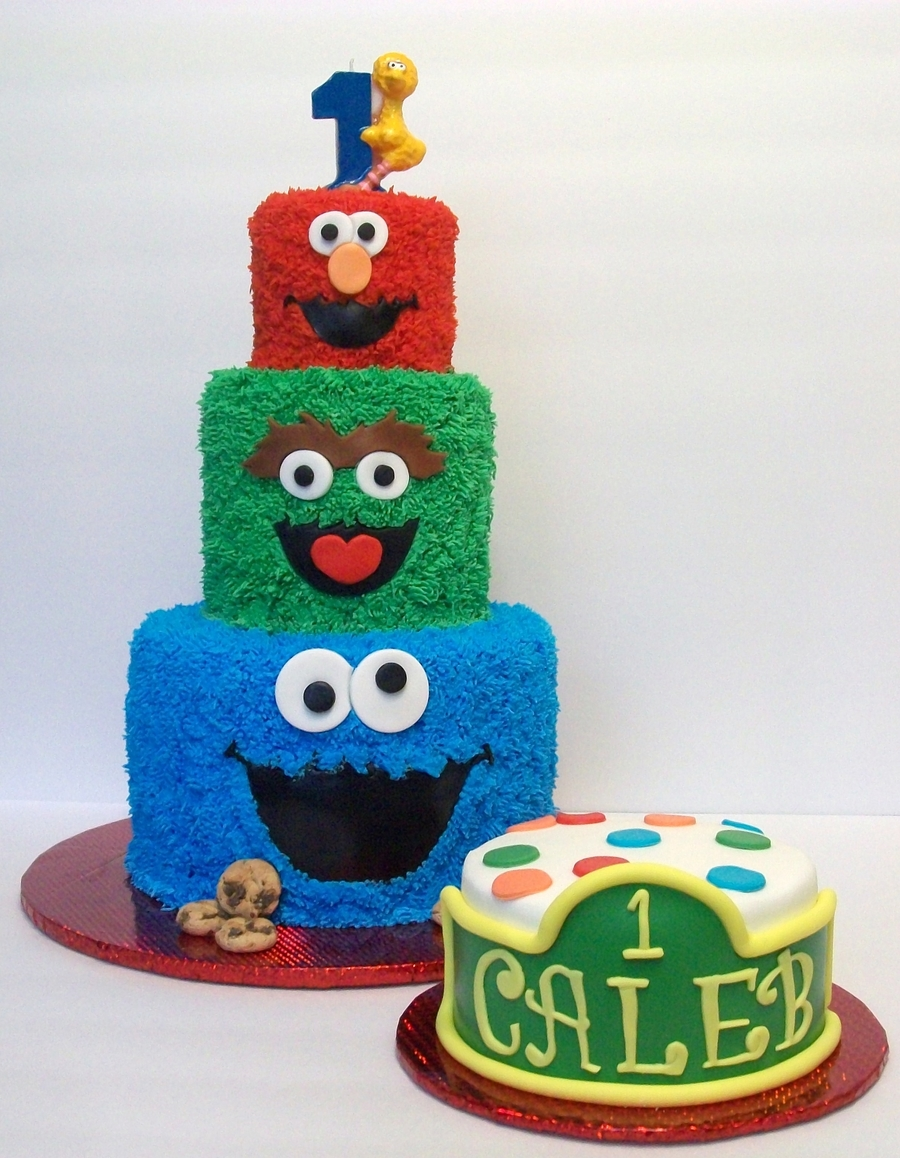 Sesame Street First Birthday on Cake Central