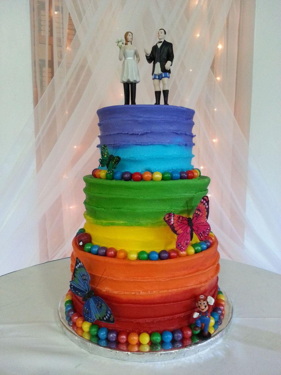 Rainbow Cake Buttercream Frosting