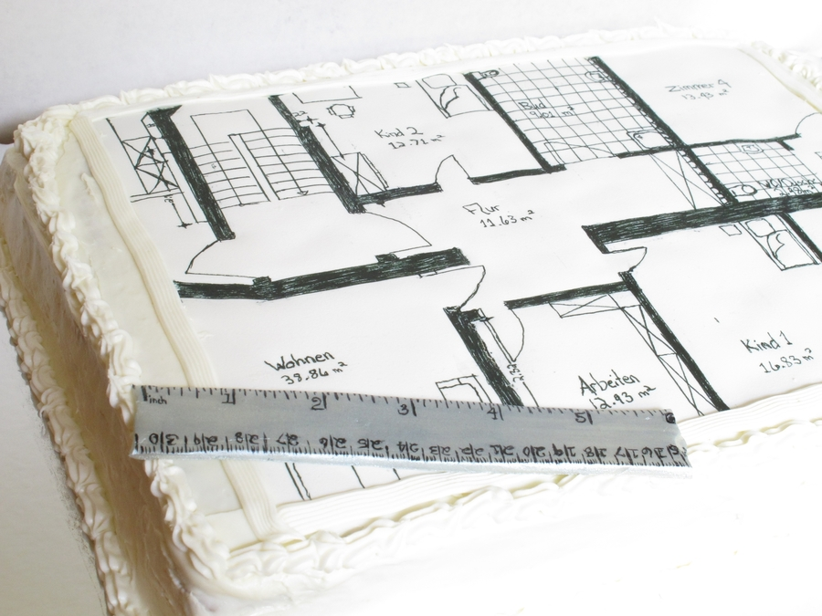architect s floor plan cake   cakecentral