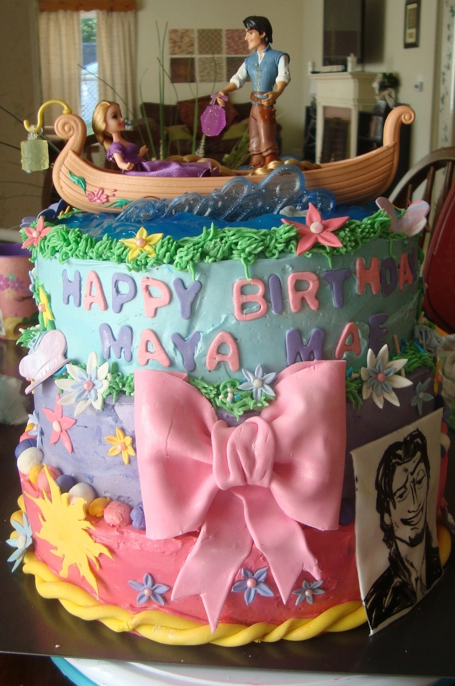 Girls Tangled Birthday Cake Cakecentral