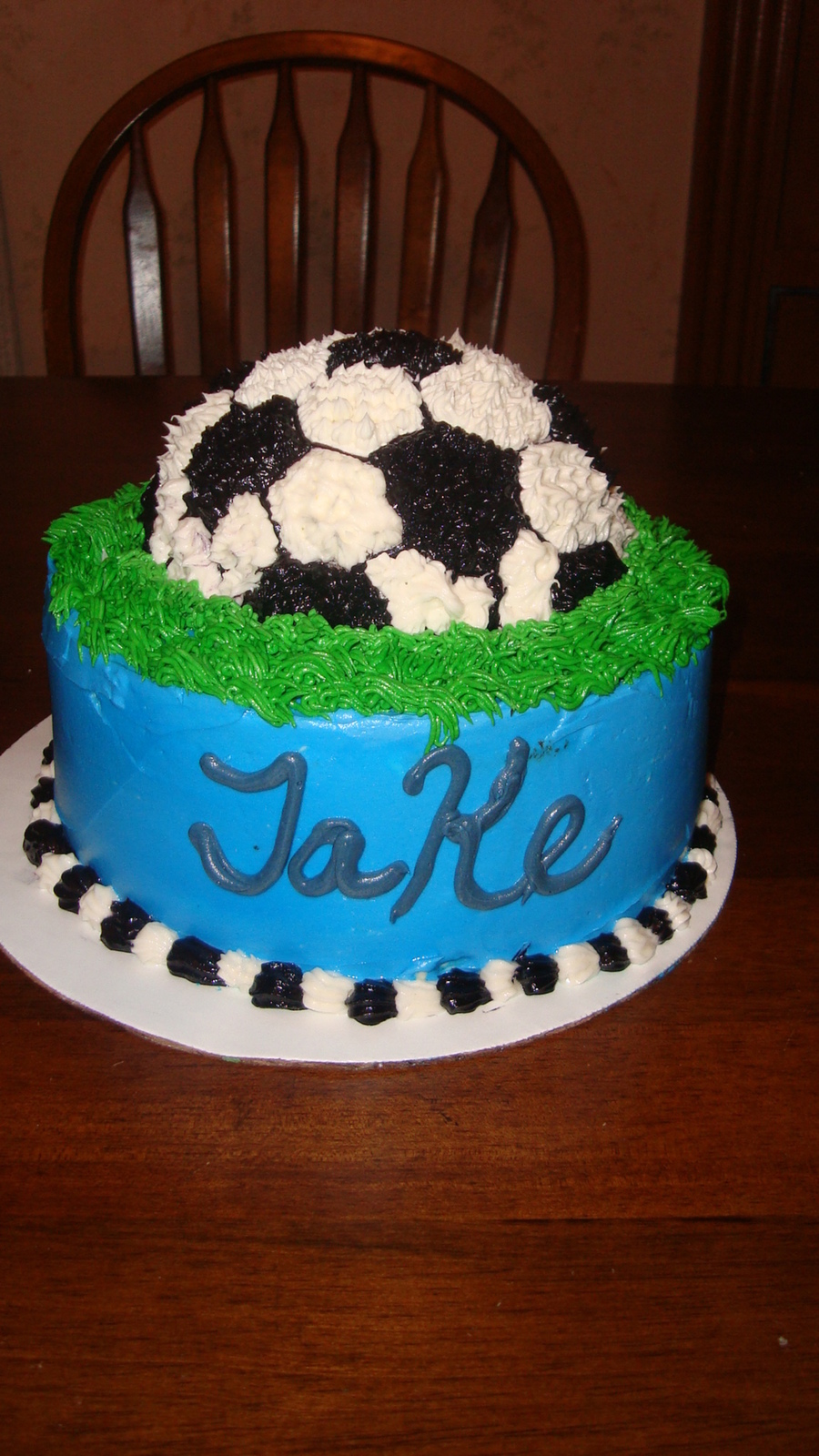 Soccer Birthday Cake Simple But Effective on Cake Central