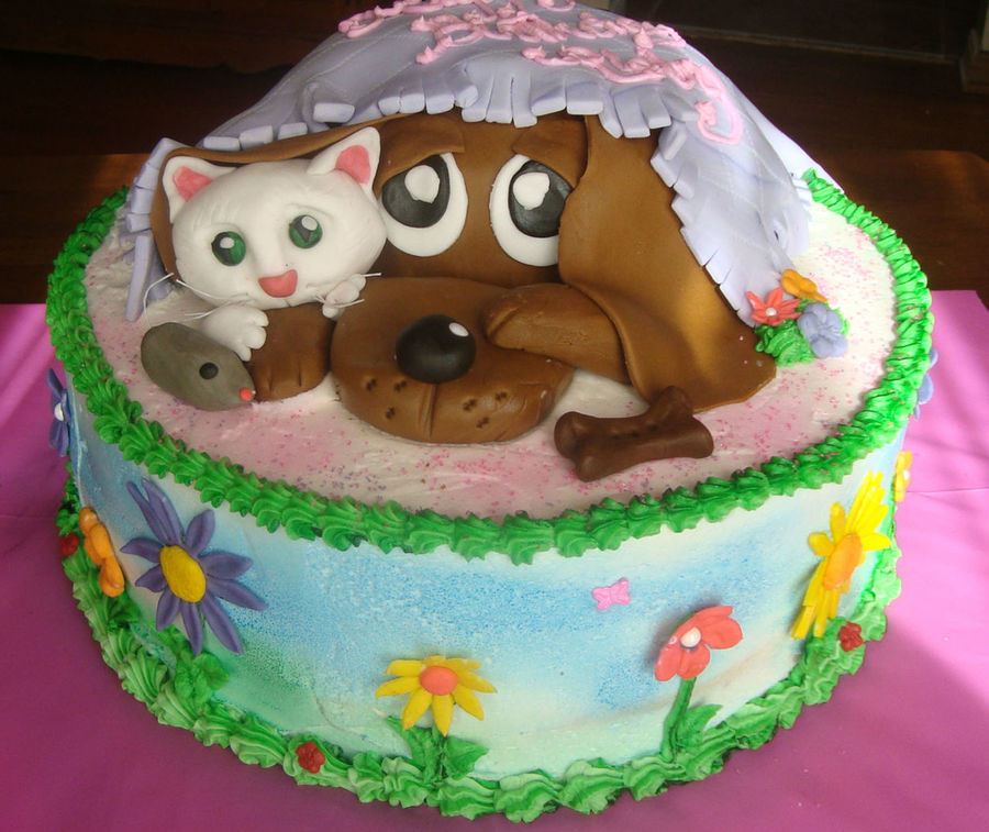 Puppy Kids Birthday Cakes