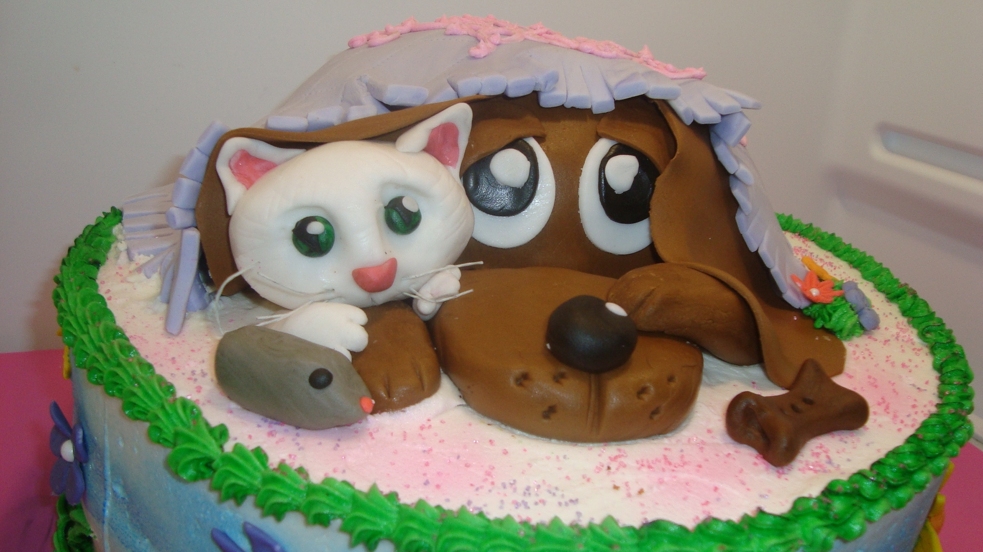 Dog Cake For First Birthday
