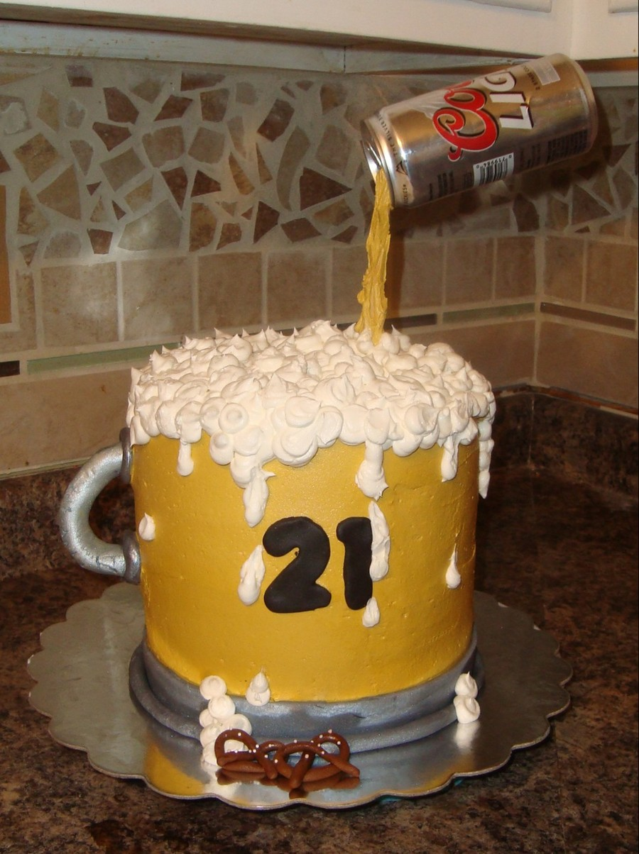 Pleasing Beer Mug Birthday Cake Cakecentral Com Birthday Cards Printable Benkemecafe Filternl