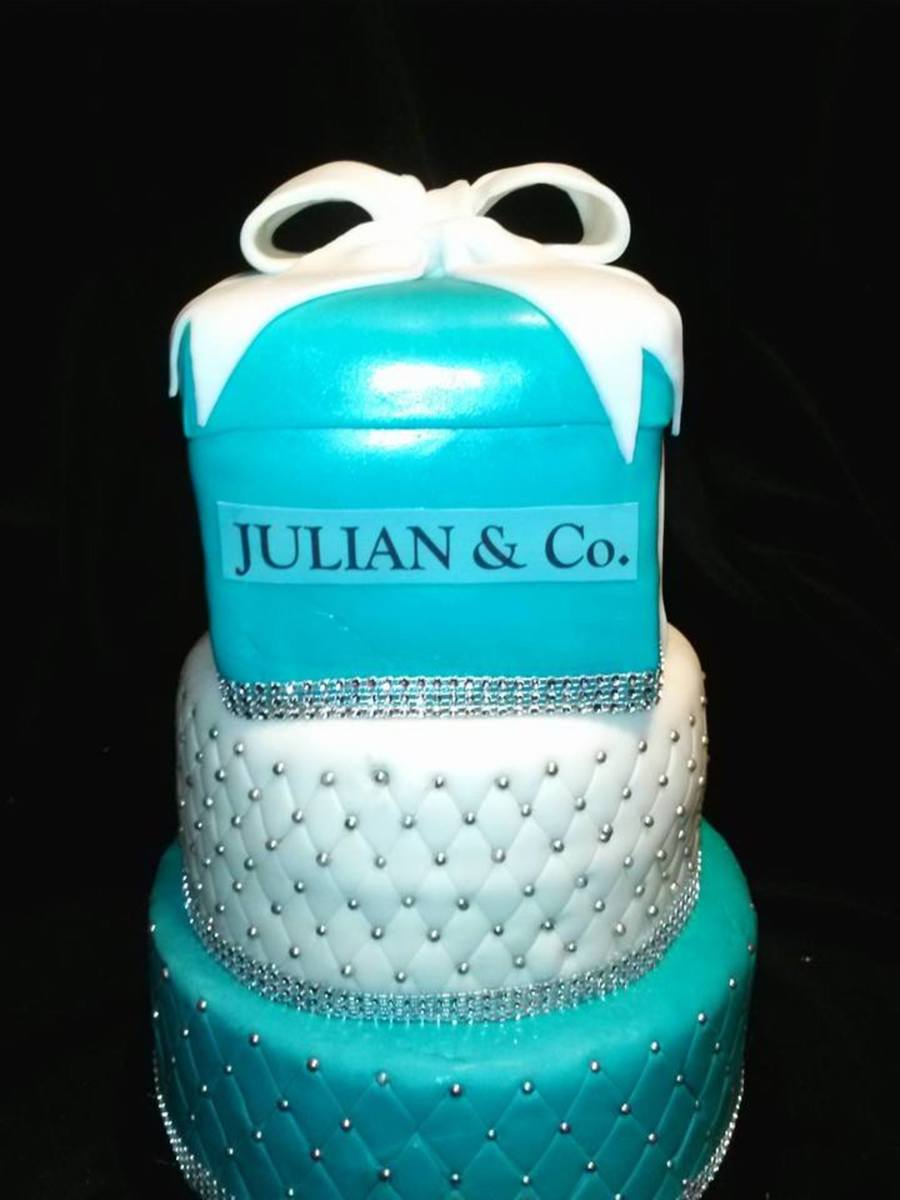 Tiffany And Co Cake For Baby Shower CakeCentralcom