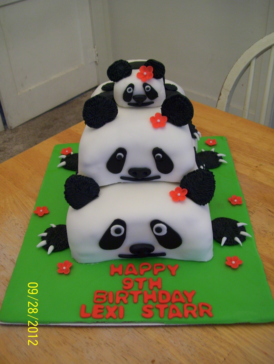 Panda Birthday Cake on Cake Central