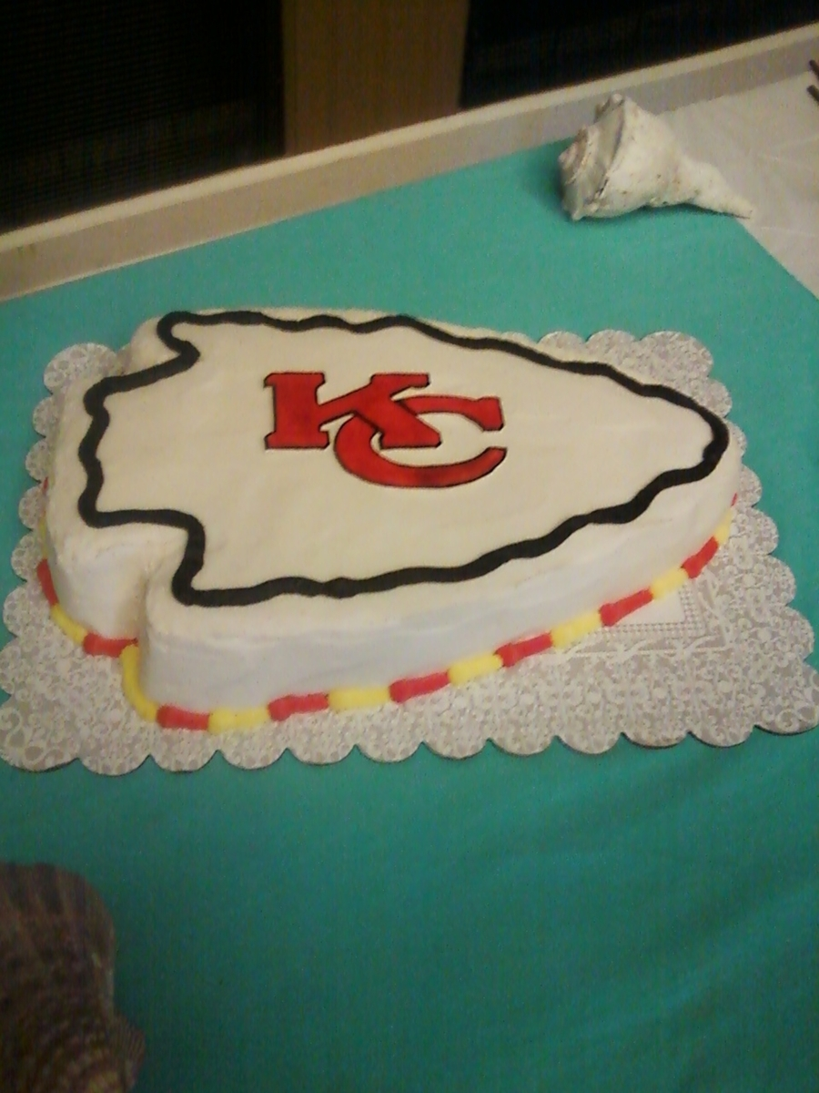Kansas City Chiefs Grooms Cake  on Cake Central