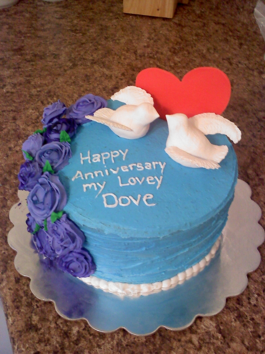 Love Dove Anniversar Cake on Cake Central