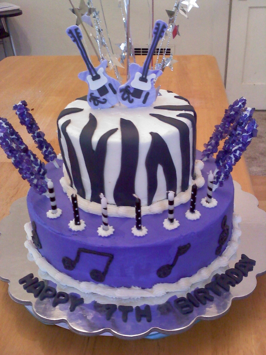 Rock Star Theme Birthday on Cake Central