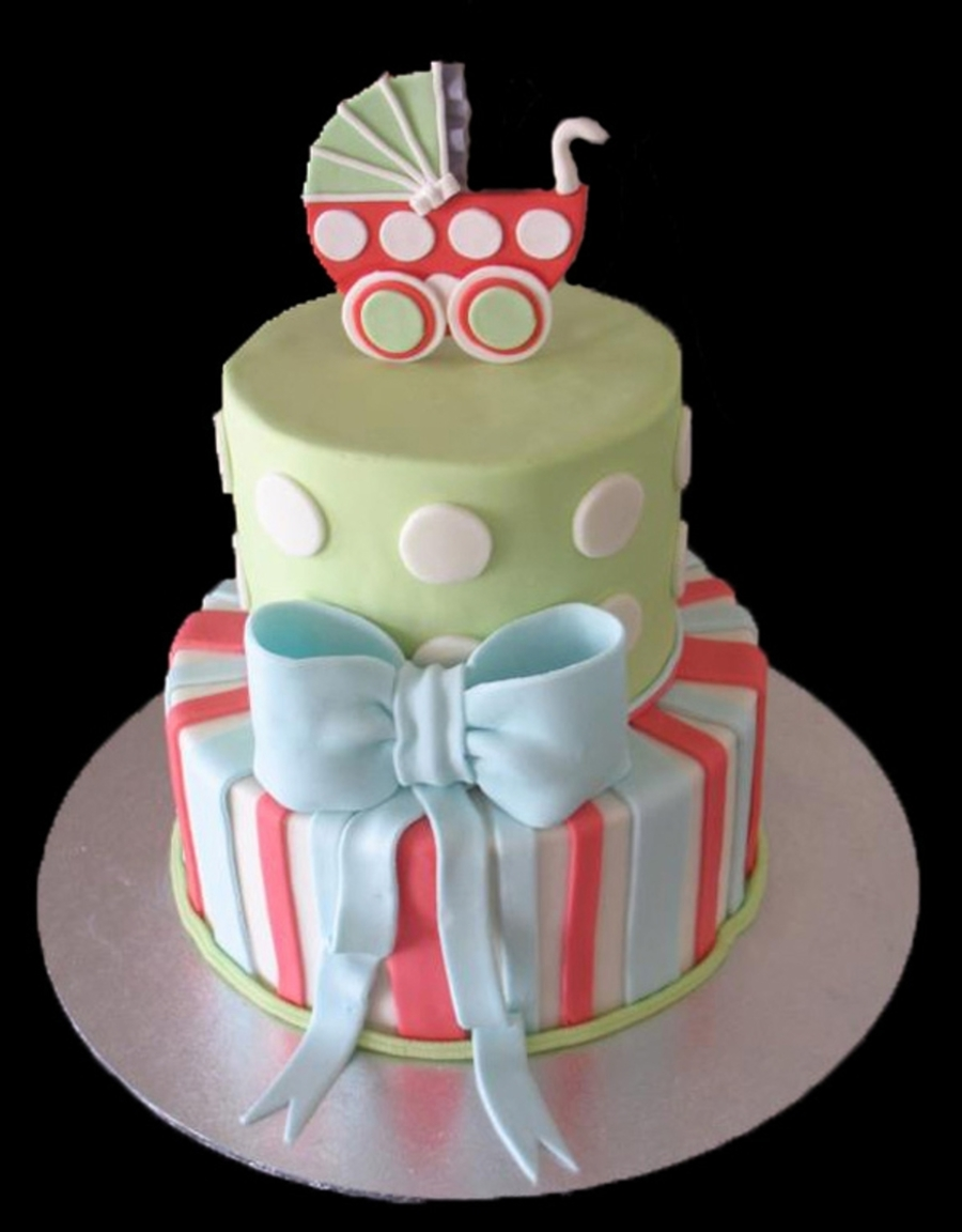 Baby Shower With Carriage on Cake Central