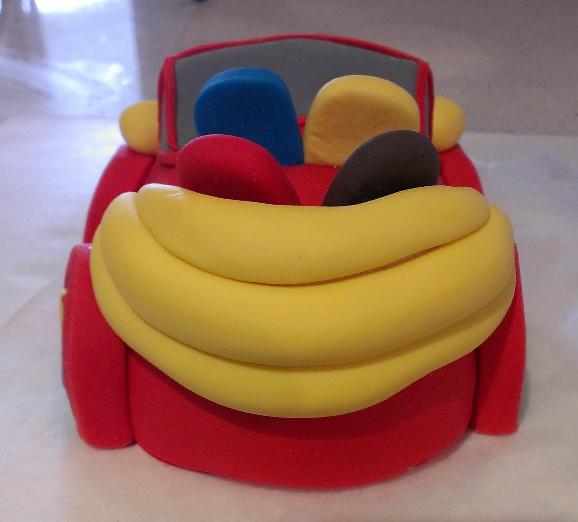Big Red Car Cake Topper