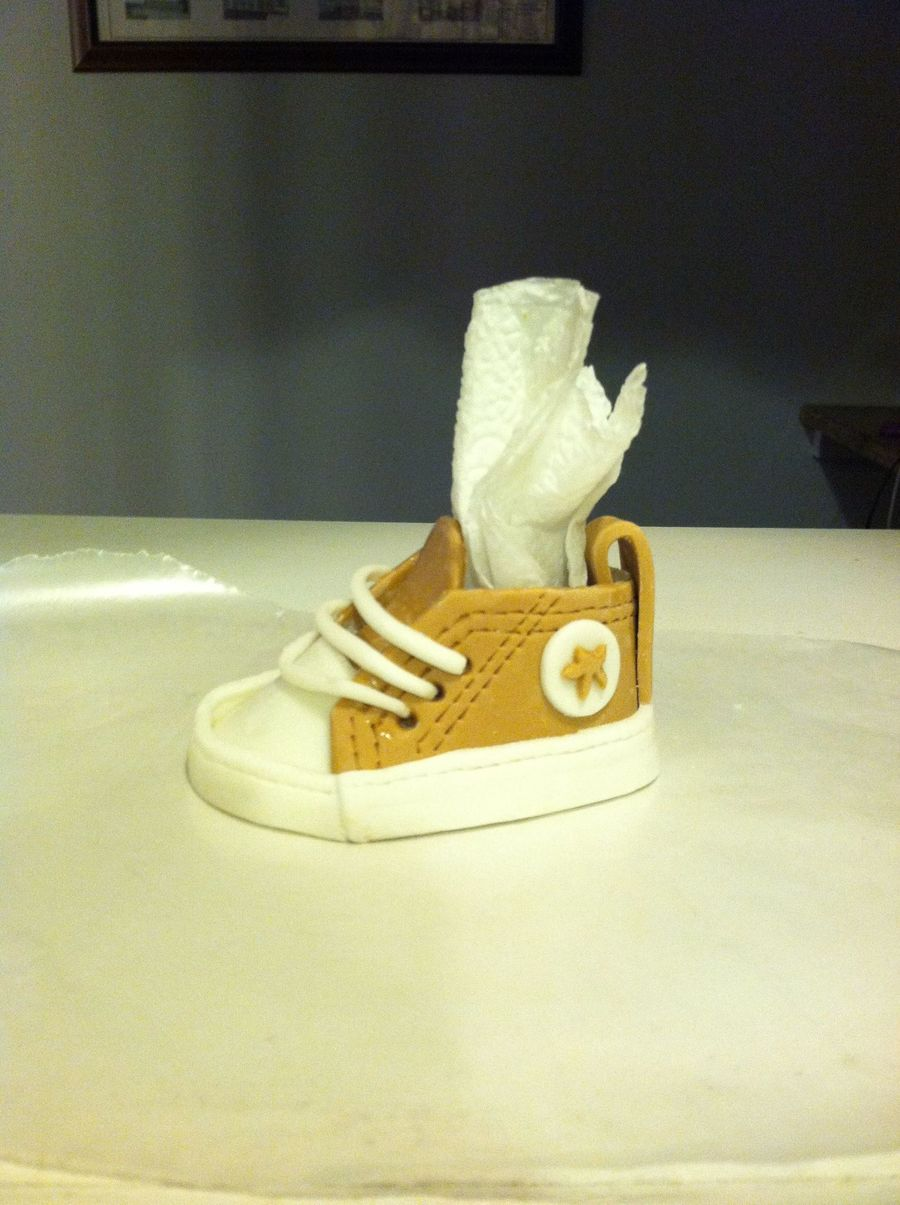 Gumpaste Baby Converse on Cake Central