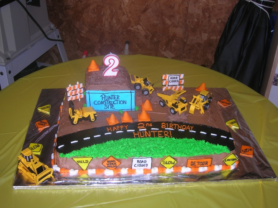 Boy Construction Themed Cake Cakecentral Com