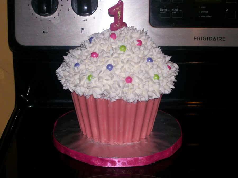 Giant Cupcake Smash Cake Cakecentral Com