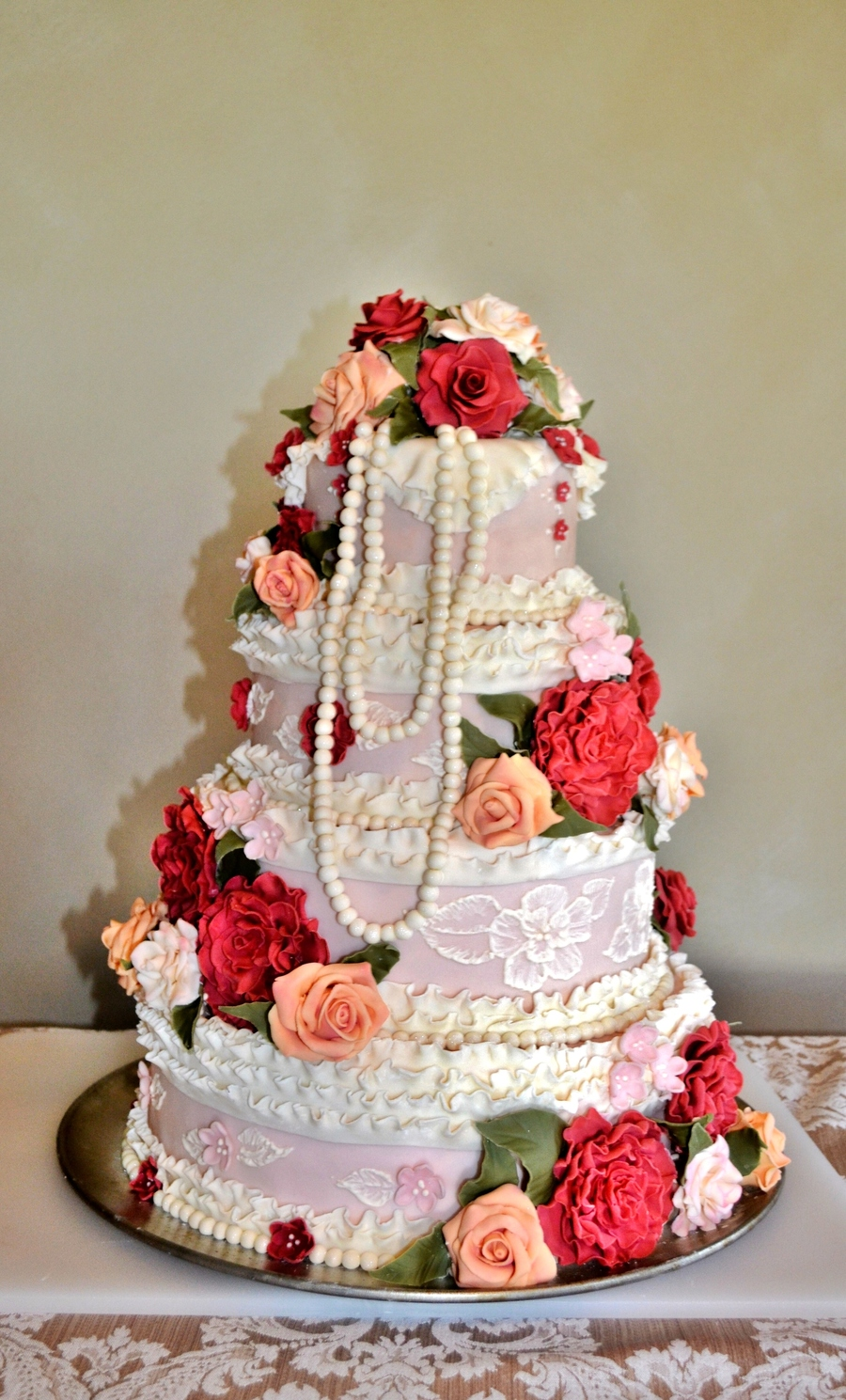vintage inspired wedding cakes vintage inspired ruffled wedding cake cakecentral 21602