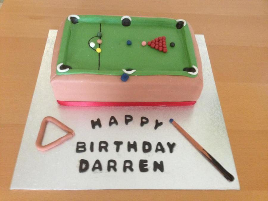 Snooker Cake on Cake Central