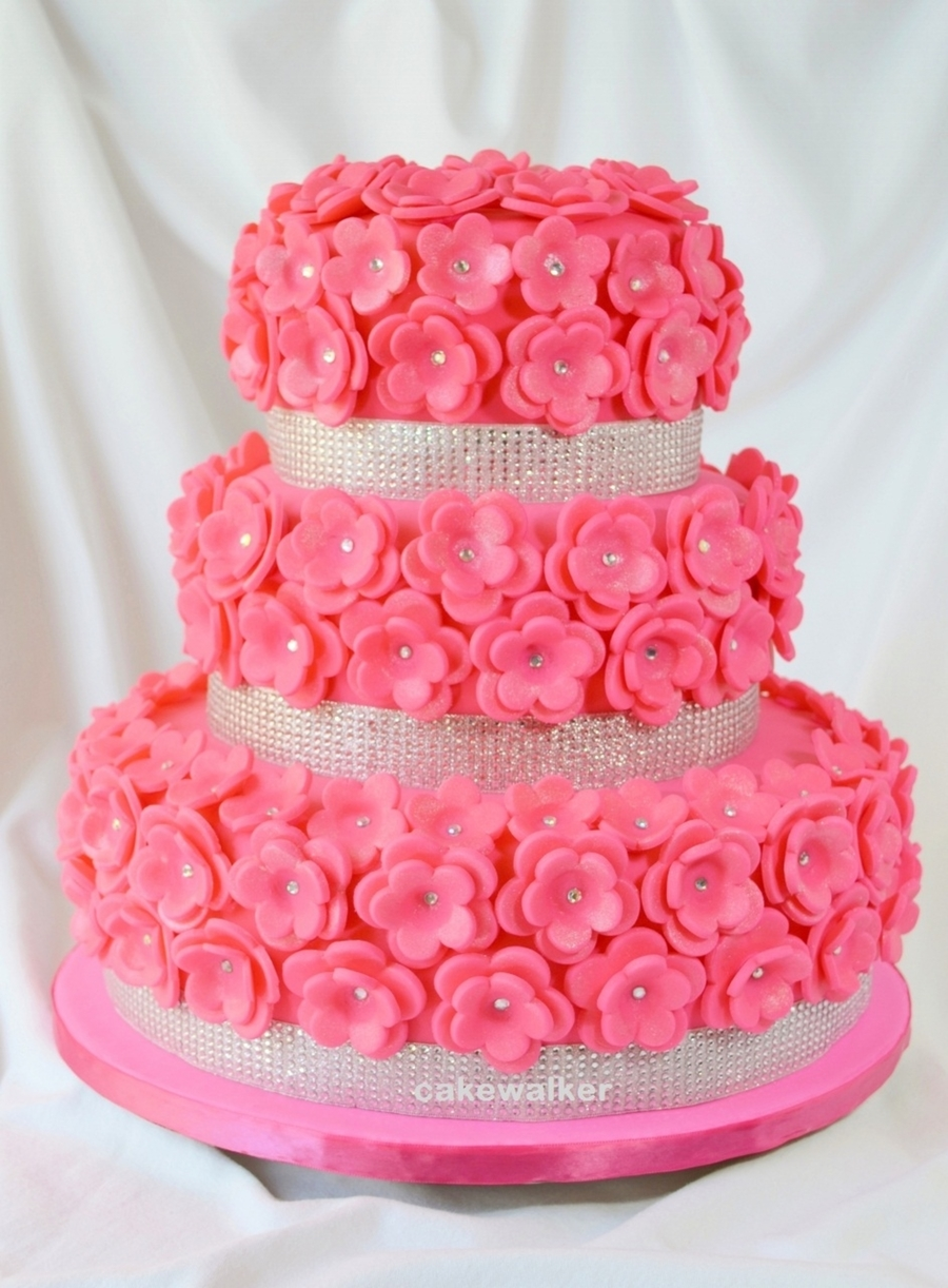 bridal shower cake pretty in pink on cake central