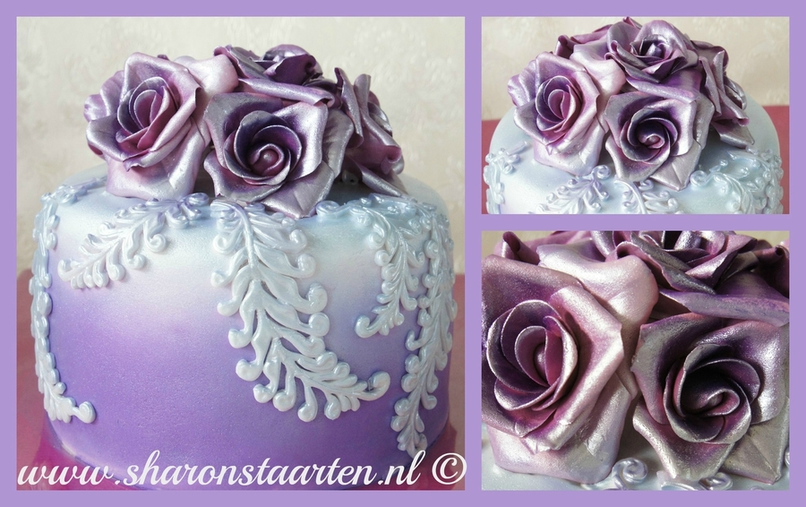 Purple Care With Flowers on Cake Central