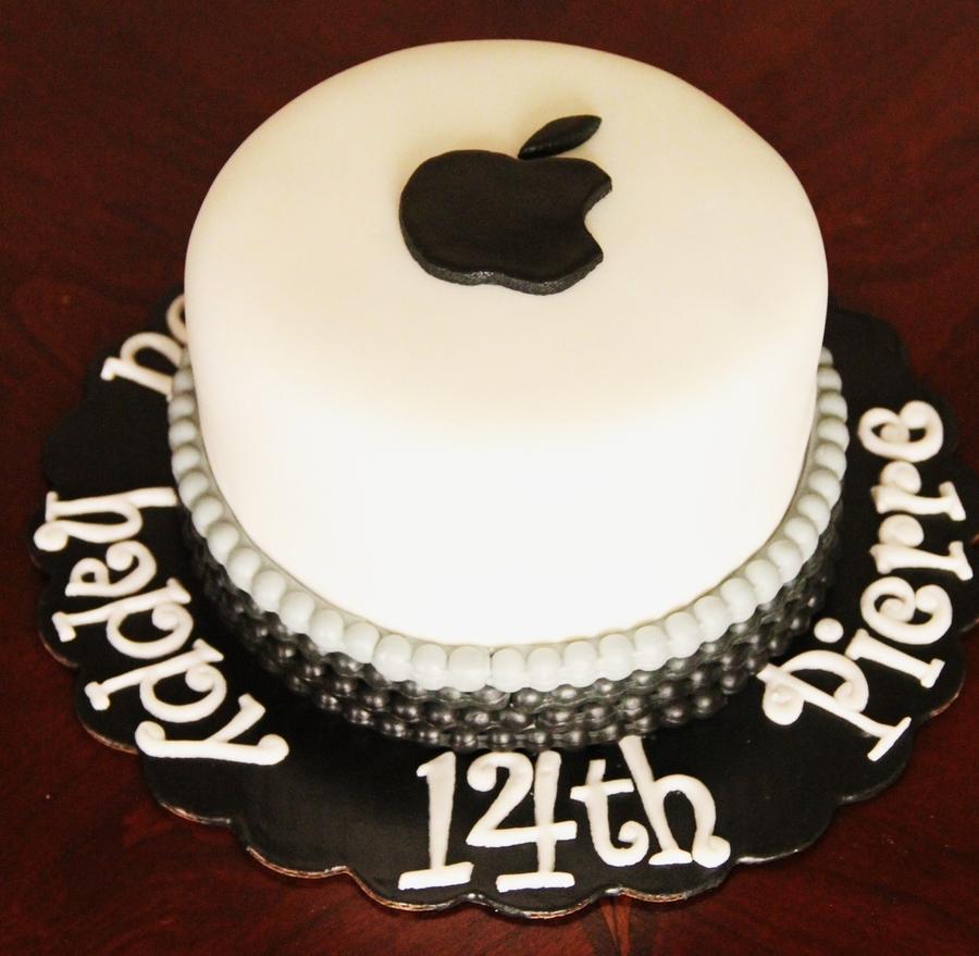 Apple Logo Cake Cakecentral Com