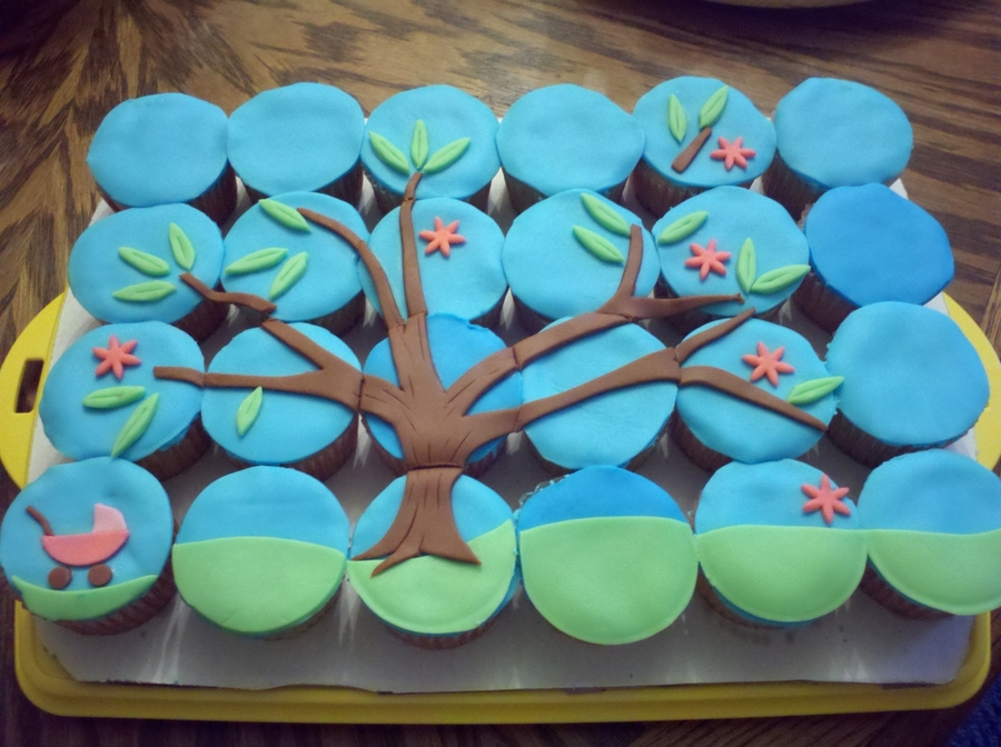 Baby Shower Tree Cupcakes on Cake Central