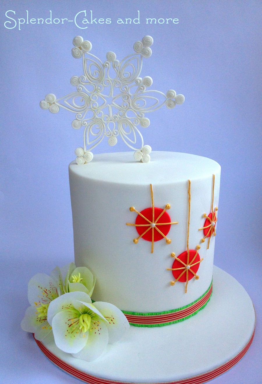 Contemporary Christmas Cake Cakecentral Com