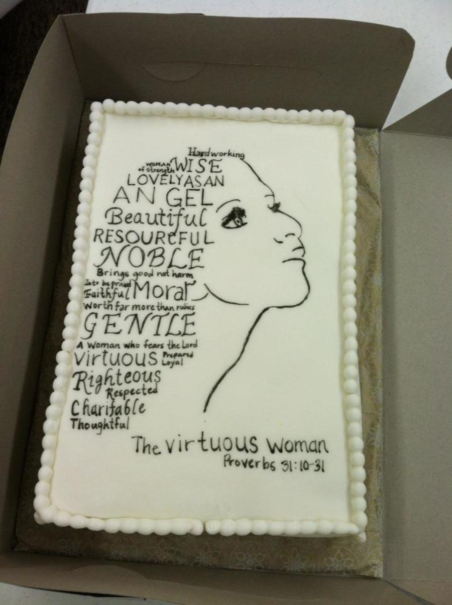 Virtuous Woman Cake on Cake Central